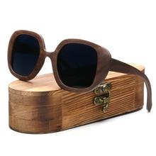 Ablibi Handmade Walnut Wood Big Size Sunglasses For Womens Tortoise-shell Driving Polarized Sun Glasses in Original Box