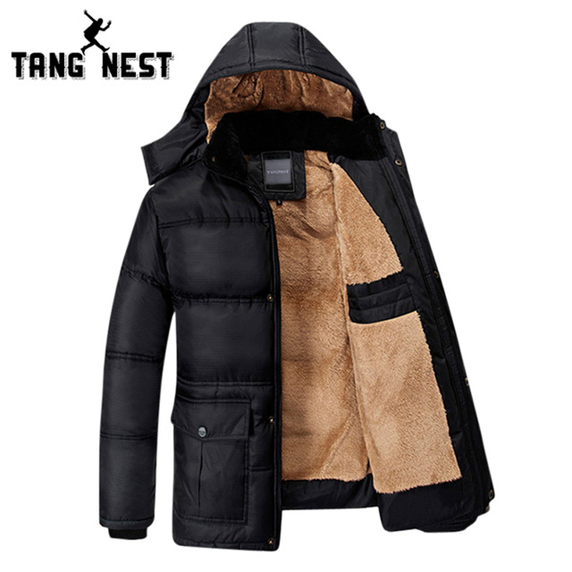 TANGNEST Men Coat  2017 Thick Warm Winter Hot Selling Bew Arrival Cotton-padded Coat Fittness Comfortable Plus Size 5XL MWM1001