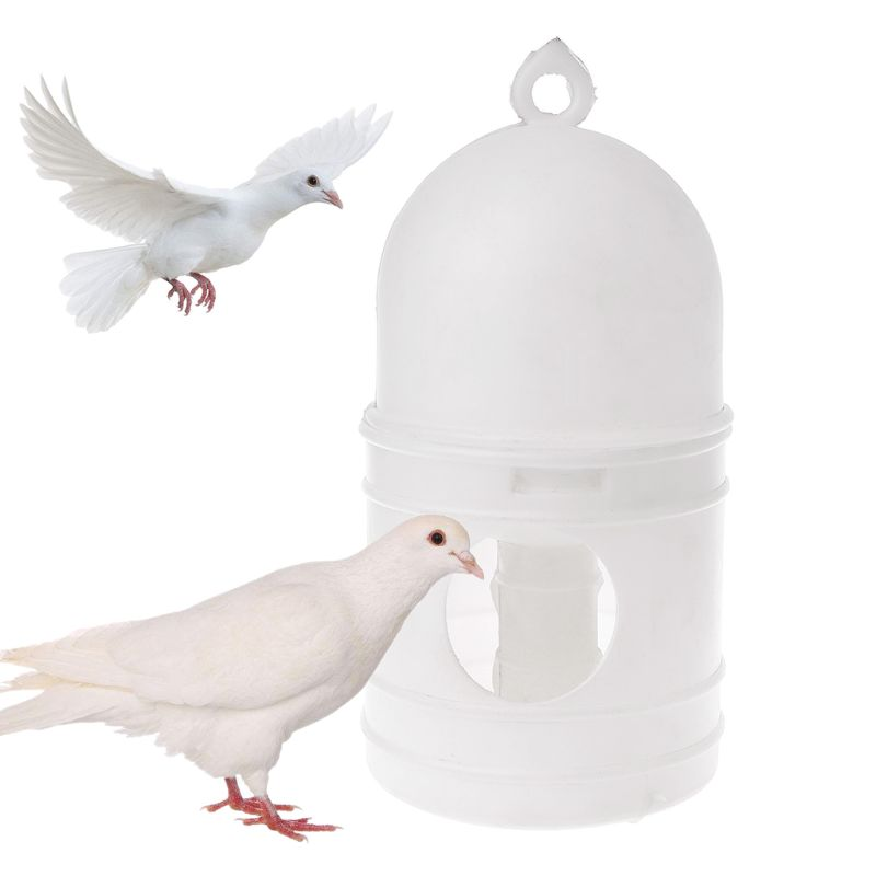Pigeons Feeder Water Pot Plastic Pet Drinker Dispenser Container Pigeons Birds Supplies