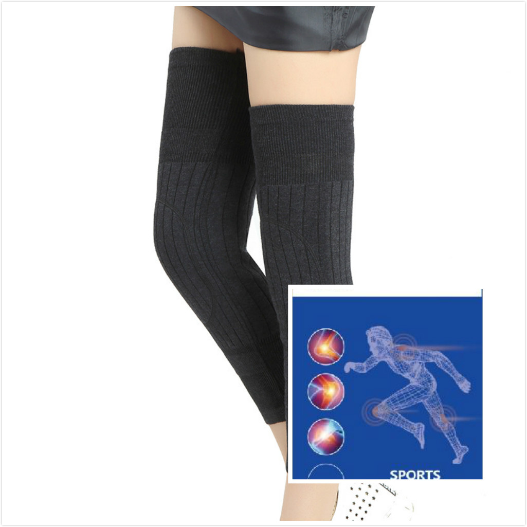 Thickened Cashmere Kneepads To Keep Warm Knees And Legs Old Men  Women  Wool Kneepads With Fleece To Prevent Wind And Heat 1PAIR
