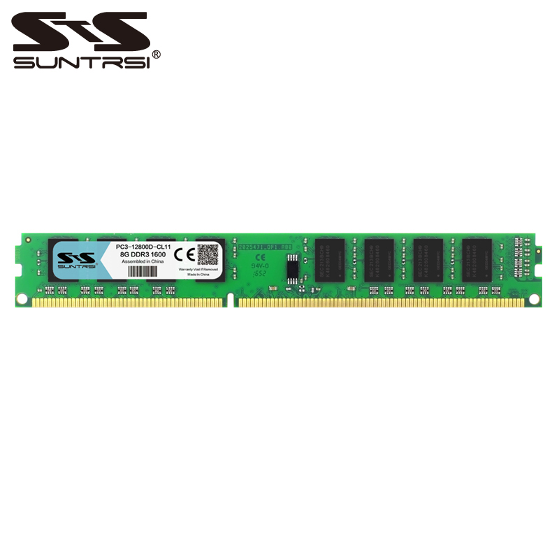 Suntrsi DDR3 1600MHz 8GB 1333MHz Desktop Memory 240pin For Desktop Computer 1.5V