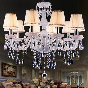 Moderno LED Bianco Luci Lampadario di Cristallo Lampada Per ...