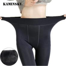 Kaminsky колготки для ног бесшовные чулки красивые осенние зимние теплые бархатные по щиколотку сексуальные женские колготки