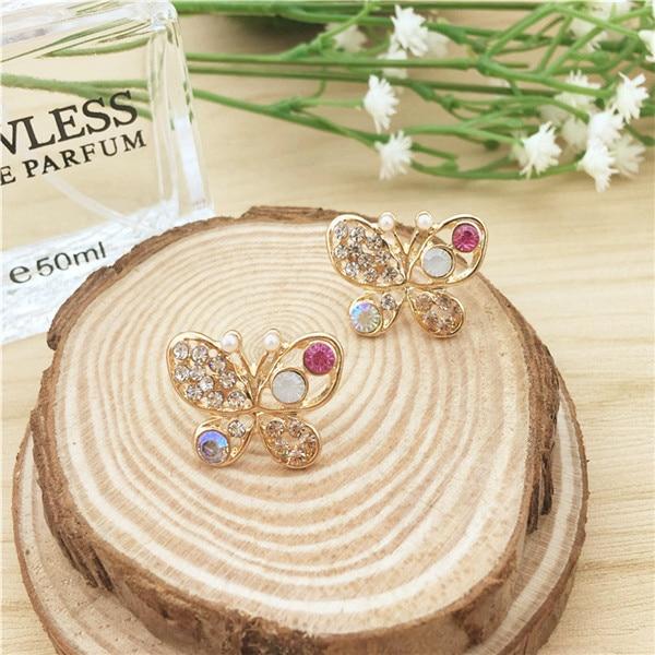 Korean women jewelry pearl butterfly hollow colorful crystal earrings earrings new earrings wholesale drop shipping.jpg 640x640 - Korean women  jewelry pearl butterfly hollow colorful crystal earrings earrings new earrings wholesale drop shipping