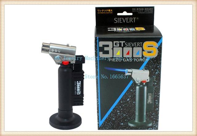 GT3000S Piezo Gas Torch,1300c Celsius jet flame torch cigar butane gas lighter Professional Welding Gun Jet Torch