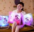 1 шт. 40 см из светодиодов свет мигает сияющий печать плюшевые подушки детей плюшевые игрушки для детей детские игрушки подарки