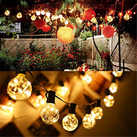 1x G40 Garden Led String Light Copper Wire Led String Light AC Power Warm White Colorful