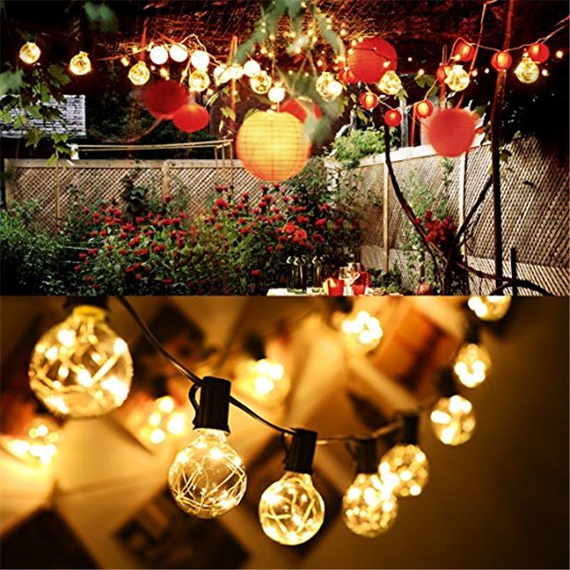 1x g40 garden led string light copper wire led string - Led light bulbs for exterior use ...