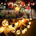 1x G40 Jardín Llevó La Luz de la Secuencia del Alambre De Cobre led Cadena de Luz, de Alimentación de CA Blanco Cálido/Guirnalda Colorida Led para La Boda/Fiesta/Navidad