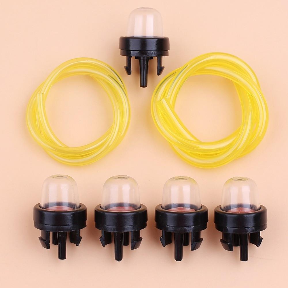 nylon fuel hose w primer bulb kit for husqvarna stihl echo craftsman trimmer chainsaw brushcutter weed eater parts [ 1000 x 1000 Pixel ]