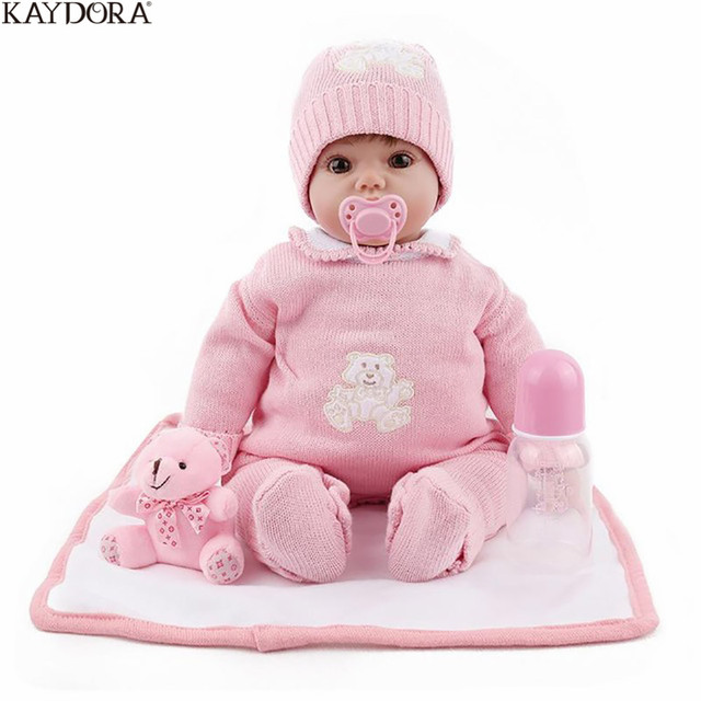 "KAYDORA 50cm 20"" Soft Silicone Doll Reborn Baby Handmade BeBe Reborn Toy For Girls Newborn Girl Baby Birthday Gift For Child"
