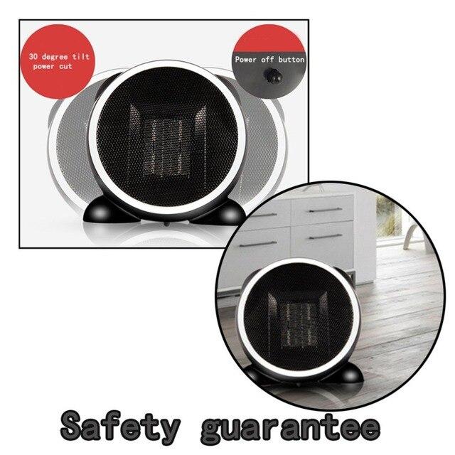 Desktop Mini Desk Fan Heater Portable Office Home Winter Warm Space Electric Heater Fast Heater Warmer Electric Heaters