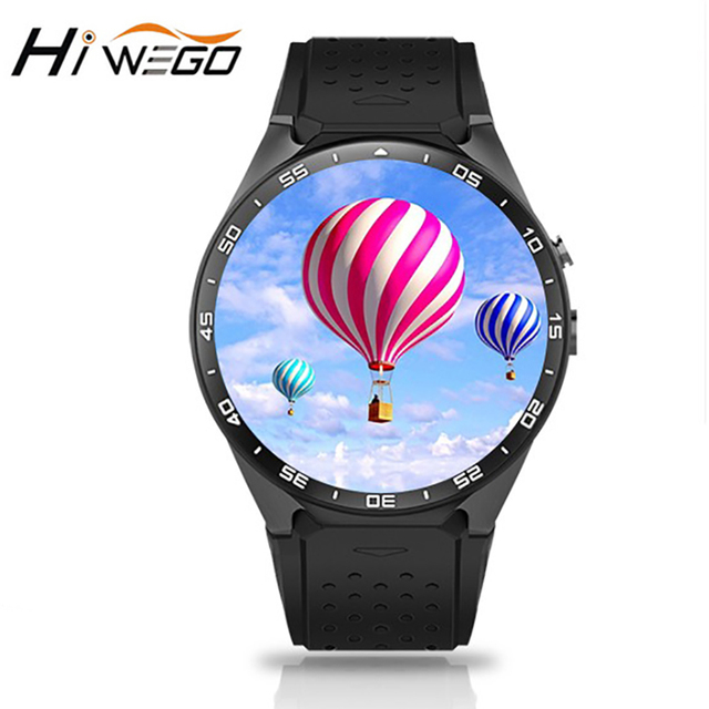 Hiwego GPS 3G Wifi Men's Smart Watch Bluetooth Android 5.1 4GB ROM 512MB RAM 2.0MP Camera Smartwatch Surpport SIM Clock KW88 Man