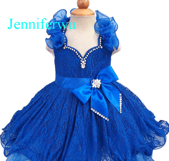 15 color available royal blue baby girl clothes  girl dresses  flower girl dresses girl party dresses  G211B