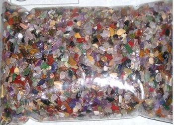 GEMSTONE MIX, Xmini 4-10mm tumbled 2 lb bulk stones quartz, agate, more SAVE 20%