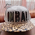 hot Brand New Adjustable Bone mirror Acrylic shine letters fashion men women sports baseball caps hip hop hat