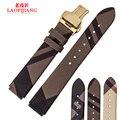 Laopijiang Gewen HUAWEI inteligente Pulseira de relógio de couro pulseira de Ajuste esporte negócios B2 substituição Borboleta fivela Pulseira 18x15mm