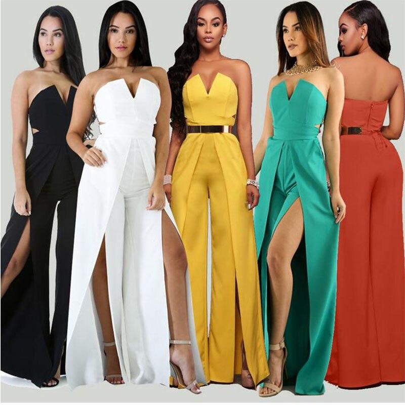 LE CELEBRE Off the Shoulder Elegant Jumpsuits Without Belt Women Plus Size Rompers Womens Jumpsuits Short Sleeve Female Overalls