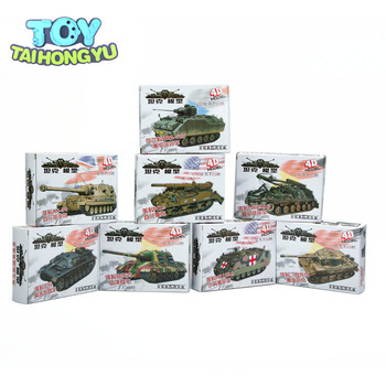 цена на TAIHONGYU 4D 8pcs Assemble Tank Heavy Weapons Armor 1/72 Plastic Model US Kit Battle Toy