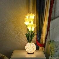 Precio Flor de Lirio de Cala Artificial LED para decoración de dormitorio sala de estar boda Navidad
