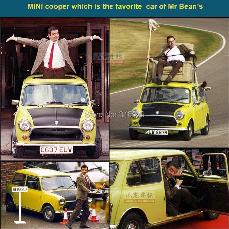 buy new brand mini cooper 1300 car model 1 24 alloy diecast car model mr bean 39 s. Black Bedroom Furniture Sets. Home Design Ideas
