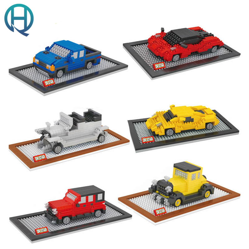 DR.STAR Vehicle Jeep Truck Racing Car Diamond DIY Building Model Blocks Bricks Sets Educational Gift Toys for Children Kids banbao 8313 290pcs fire fighting ladder truck building block sets educational diy bricks toys christmas kids gift