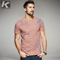 2017 Summer Mens Fashion T Shirts 100 Cotton Flower Print Orange Brand Clothing Man S Short