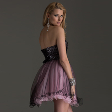 2017 Charming Mini Short Homecoming Dresses 8th Grade Party Dresses Black Pink Rhinestones Sequined Graduation Dresses