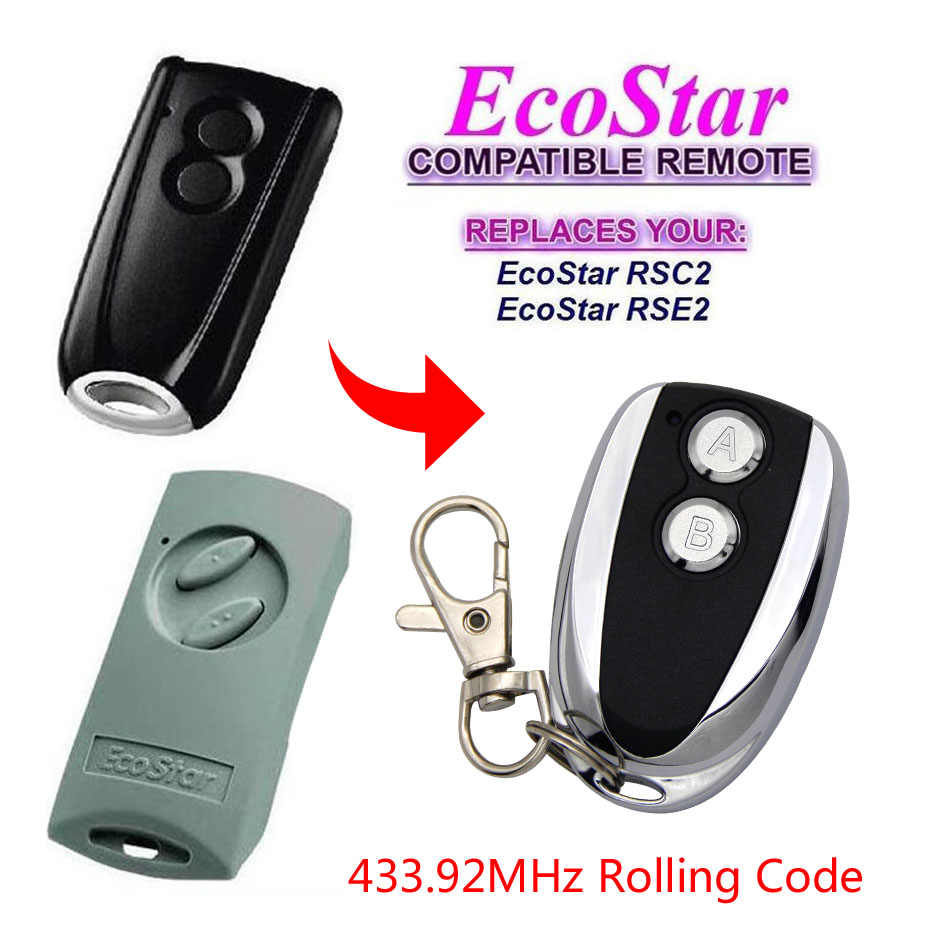 ECOSTAR RSE2 RSC2 433MHz rolling code remote control Ecostar remotes With Battery