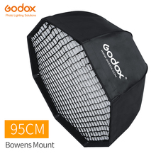"Godox 95 ס""מ 37.5in נייד מתומן מטרייה Softbox עם כוורת רשת Bowens הר סטודיו פלאש Softbox SK400II QT400II"