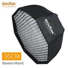Godox 95 cm 37.5in Taşınabilir Sekizgen Şemsiye Softbox ile Petek Izgara Bowens Dağı Stüdyo Flaş Softbox SK400II QT400II