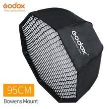 Godox Softbox de paraguas octogonal portátil, 95cm, 37.5in, con rejilla de nido de abeja, Bowens, montaje de Flash de estudio, Softbox, SK400II, QT400II