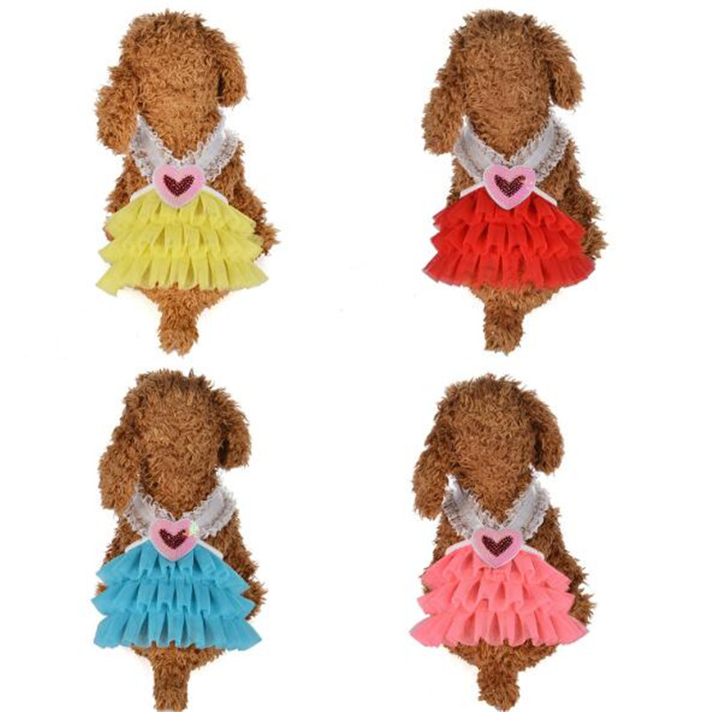 Small Pet Puppy Dog Cat Dress For Dog Sling Dresses Teacup Yorkie