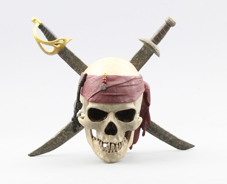 Neca Collection Pirates Of The Caribbean Captain Jack Sparrows Skull Pvc Action Figure Model Skeleton Toy Kids/boy Gift Cooperative temil