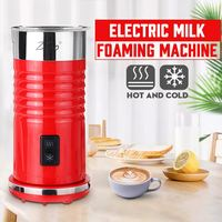 220V Electric Hot / Cold Milk Frother Foamer Frothing Warmer Latte Cappuccino Coffee Foam Maker Machine Temperature Keeping