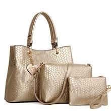 Europäischen und Amerikanischen Stil Frauen Tasche Designer-handtaschen Damen Taschen Geprägte Knitting Muster frauen Schulter Tasche Composite-tasche