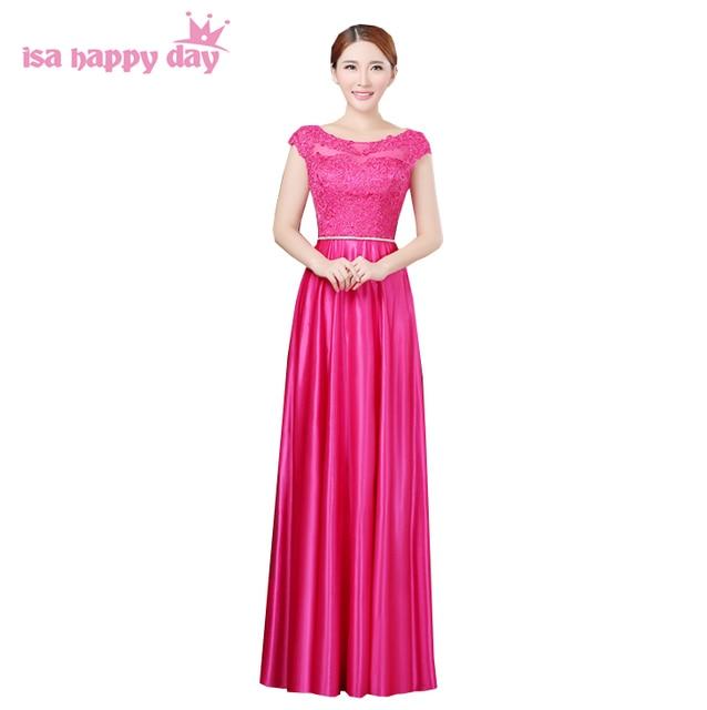 Largo Blush nupcial rojo rosa fucsia caliente tamaño bridemaid ...
