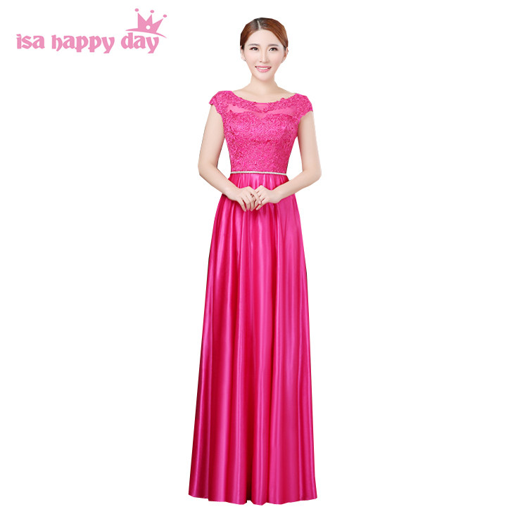 US $50.82 5% OFF|long blush red bridal hot pink fuchsia plus size bridemaid  party dress brides maides crimson glamorous bridesmaid dresses B2913-in ...