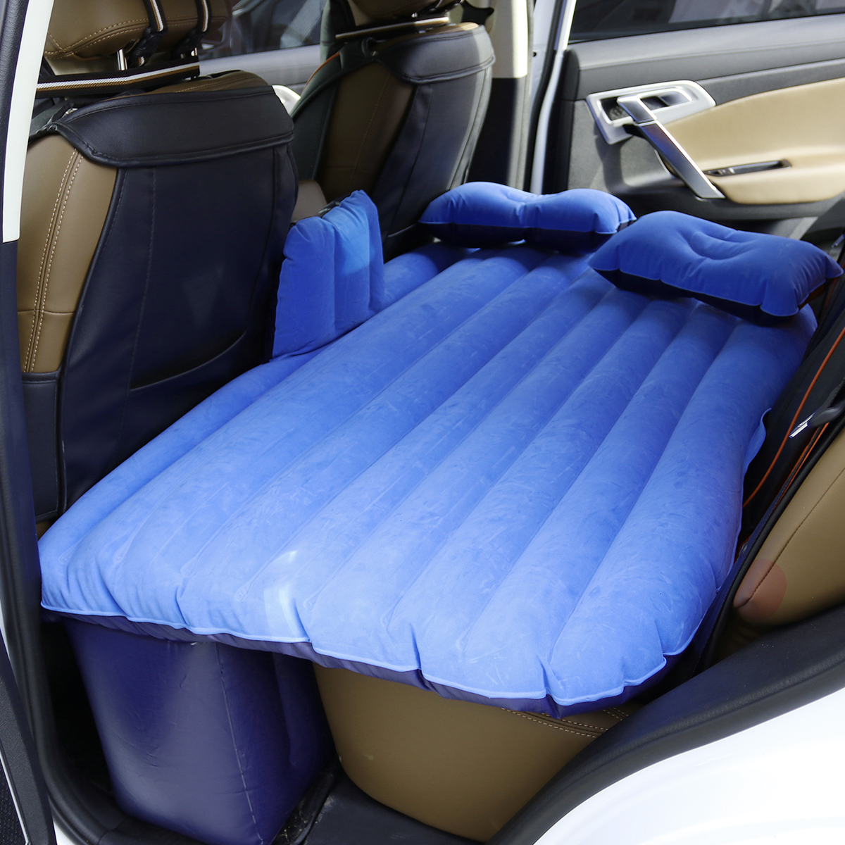 Universal Travel Car Bed Inflatable Mattress Air Inflatable Bed Camping Back Seat Extended Mattress +Two Pillows Car For Couple durable thicken pvc car travel inflatable bed automotive air mattress camping mat with air pump