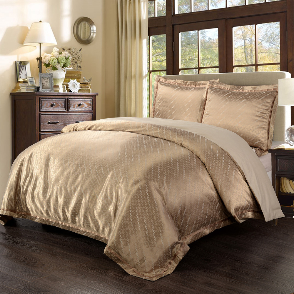 yarn dyed poly silk bamboo cotton jacquard bedding set water drop 1 duvet cover and 2pillow case. Black Bedroom Furniture Sets. Home Design Ideas