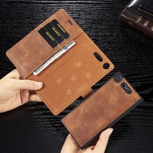 Image 1 - For Sony Xperia  XZ2 XZ3  pu Retro Leather Book Stand Wallet Detachable Magnetic 2 in 1 Removable Card Cover Case