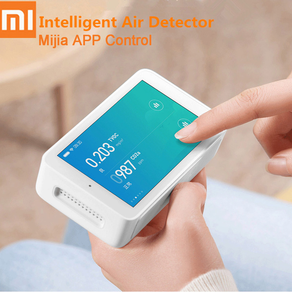 Xiaomi Mijia Air Detector High-Precision Sensing 3.97Inch Touchscreen USB Interface Remote Monitoring PM2.5 CO2a Humidity SensorXiaomi Mijia Air Detector High-Precision Sensing 3.97Inch Touchscreen USB Interface Remote Monitoring PM2.5 CO2a Humidity Sensor
