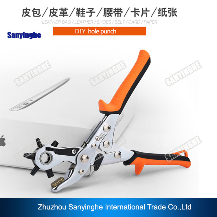 Multi-function Portable Puncher Heavy Duty Leather Belt Holes PUNCH PLIERS (labor saving type round hole)  цены