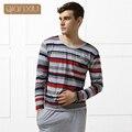 Qianxiu бренд мужской пижамы удобная о-образным вырезом мода споткнуться шаблон