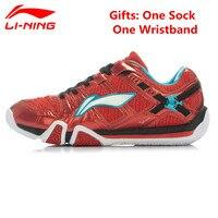 Li Ning Men Badminton Shoes Professional Shoes Cushioning Breathable Shock Absorbant Sneakers Sport Shoes AYAJ011 XYY022