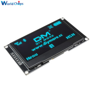 "Image 3 - Diymore Blau 2,42 ""2,42 inch LCD Screen 128x64 OLED Display Modul IIC I2C SPI Serielle 12864 OLED display für C51 STM32 SPD0301"