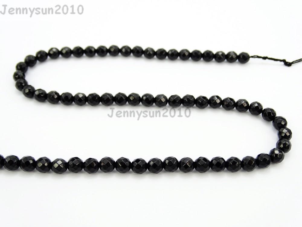 BLACK ONYX GEMSTONE ROUND BEADS 6MM ROUND STONE BEAD STRANDS S127
