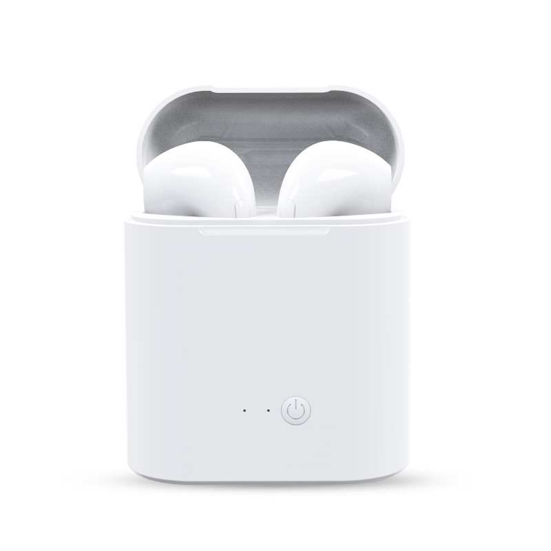 2 unids i7s TWS auriculares inalámbricos Bluetooth auriculares gemelos auriculares estéreo de música con caja de carga para todos los teléfonos inteligentes