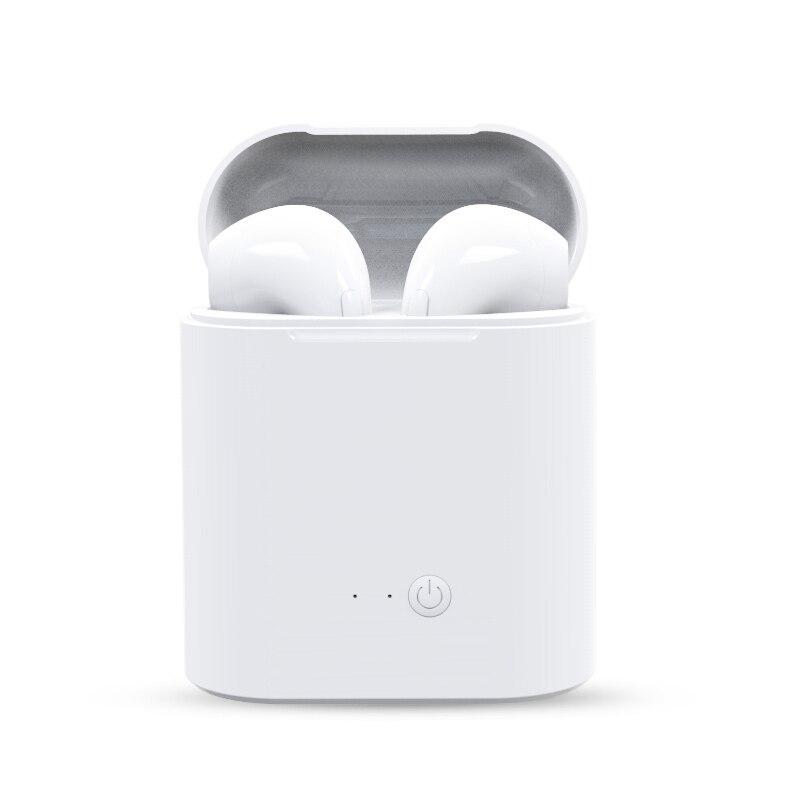 2 piezas i7s TWS Mini Headphone auricular Bluetooth inalámbrico de música estéreo de auriculares con caja de carga para todos los teléfonos inteligentes no los airpods