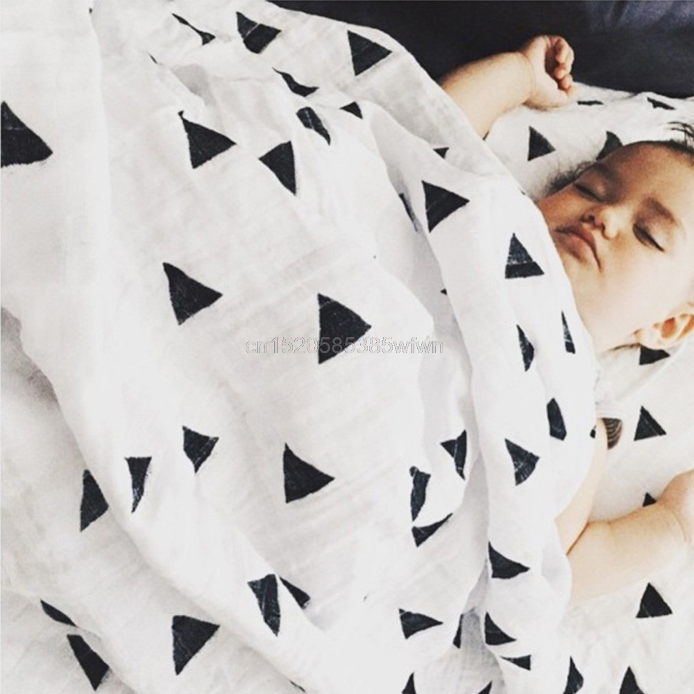 Soft Muslin Newborn Baby Swaddling Blanket Infant Cotton Swaddle Towel 120x120cm #HC6U# Drop shipping